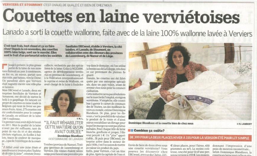 """Article paru dans """"La Meuse"""""""
