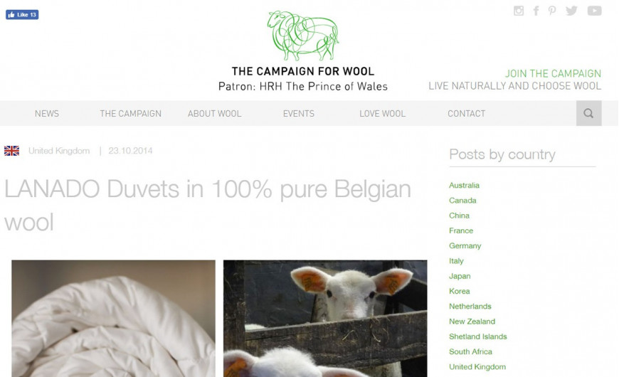 Woolmark - Campaign for wool - Wool Week in Belgium - Semaine de la laine